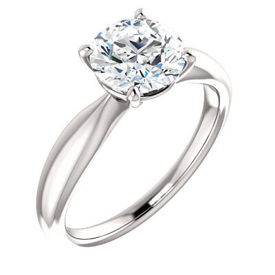 GIA 3.01 ct Round Diamond Engagement Solitaire 14k White Gold Ring G SI2 clarity 2