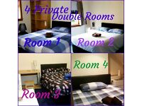 From £ 20 per day-PRIVATE DOUBLE ROOM IN 4 BEDROOM HOUSE - NO MINIMUM STAY - WEEKLY - MONTHLY LET