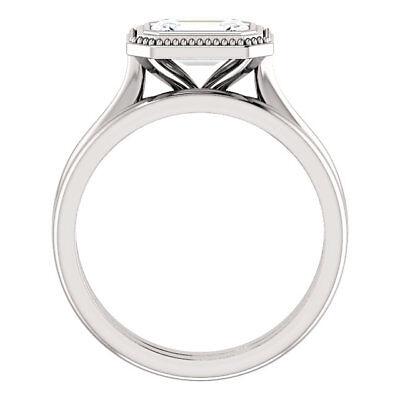 1.02 carat GIA cert Emerald cut Diamond Solitaire Engagement 14k Gold Ring J SI2 2