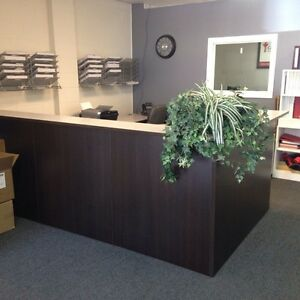 Perfect condition 3 station front end desk