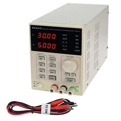 Korad Ka3005d - Precision Variable Adjustable 30v 5a Dc Linear Power Supply New