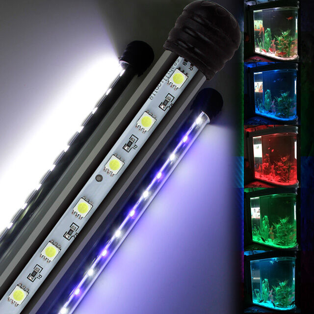 aquarium leuchtbalken mondlicht led lampe wasserdicht aquarium beleuchtung ebay. Black Bedroom Furniture Sets. Home Design Ideas
