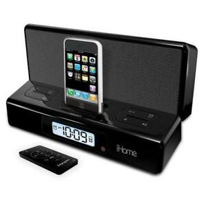 iHome2Go iP27BR Portable Speakers with Alarm Clock for iPhone