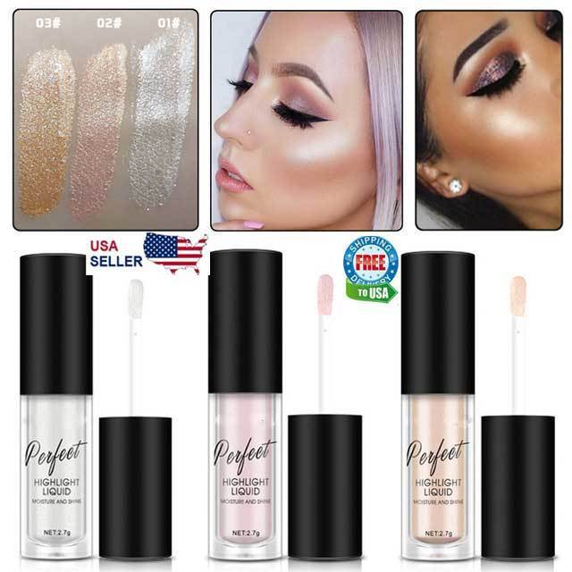 Liquid Highlighter Beauty Face Brightener Oil Shimmer Glow Makeup Hot!!! Bronzers & Highlighters