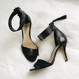 Tony Bianco Black Leather Heels (size 8.5) Camberwell Boroondara Area Preview