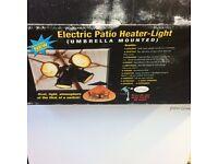 electric patio heater - umbrella mounted