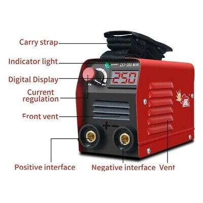 Zx7-250 20-250a Portable Household Mini Electric Welding Machine Current...