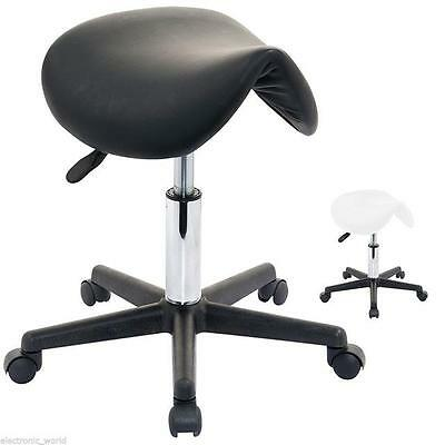 Salon Saddle Beauty Stool Massage Manicure Gas Lift Swivel Chair Wheels Tattoo
