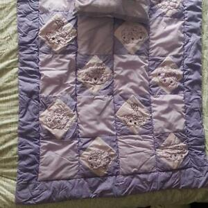 Price Drop! HANDMADE CRIB/TODDLER QUILT AND PILLOW
