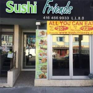 Sushi Restaurant for Sale in Great Location!