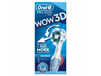 Oral B electric tooth brush pro 2000 Wow 3D
