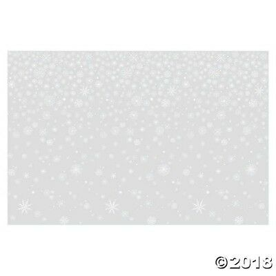 Clear Snowflake BACKDROP Photo Prop CHRISTMAS WINTER FROZEN PARTY DECORATION