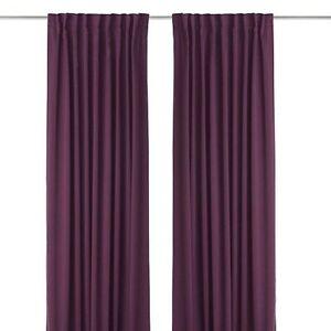 Paire rideaux Ikea violet Werna 140x240cm