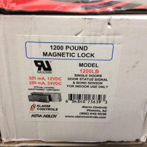 ASSA ABLOY Alarm Controls 1200LB 1200 Pound Magnetic Lock 12/24VDC
