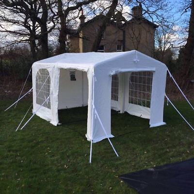 Sunncamp Pole Free Extendable Lounge Party Tent 4m x 4m with window covers
