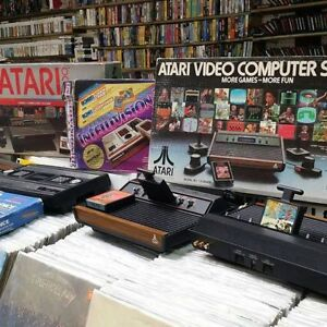 Atari 2600, Vectrex, Intellivision, Coleco vision games systems