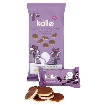 Kallo Belgian Milk Chocolate Mini Rice Cakes Multipack   4 X 21G  0 19Lbs