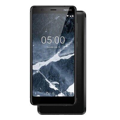 Nokia 5.1 (2018) Dual-Sim Smartphone schwarz mit Fingerabdrucksensor