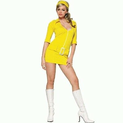 Soda Halloween Costume (2 PC LEG AVENUE RETRO SODA POP GIRL LEMON YELLOW DRESS HALLOWEEN COSTUME)