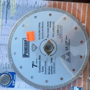 4 TYPES OF 7 IN DIAMOND CUTTING WHEELS ,SMOOTH,SEGREGATED
