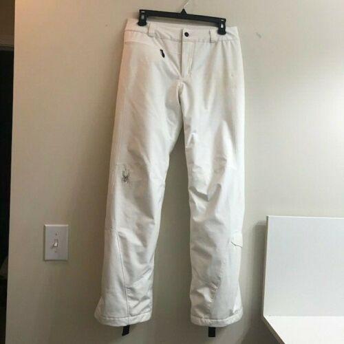 Spyder Insulated White Snow/Ski Pants, Ladies Size 4