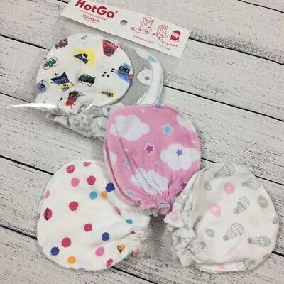 3 Pairs Baby Gloves 0-6 Month Newborn Baby Stop Scratch Infant Gloves Mittens