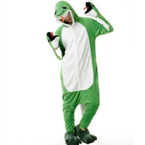 "New green snake onesie kigurumi - medium (for up to 5'8"")"