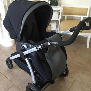 Peg perego book plus stroller and car seat. EXCELLENT CONDITION