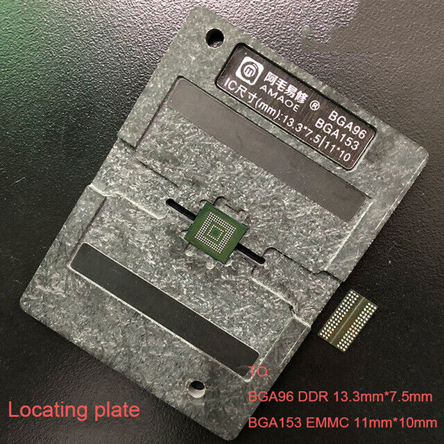 BGA Heat Reballing Stencils with Templateset For BGA96 DDR BGA153 EMMC Chip