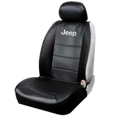 Official Licensed Jeep Logo Sideless Front Seat Covers Black For Car/SUV
