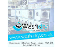 washing machines, dryers, cookers, fridges and more all come with warranty and can be delivered