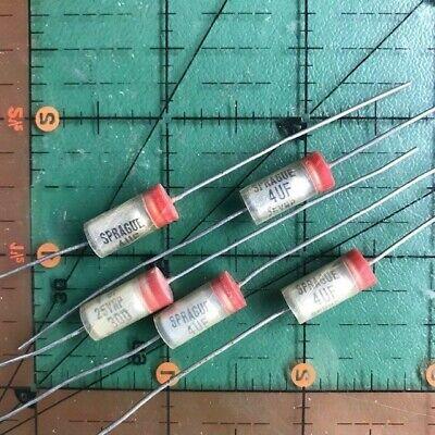 4uF 25v Sprague Axial Electrolytic Capacitor 30D405M025BA5A Non-Polar Audio 5pcs