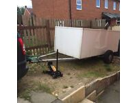 Metal box. Trailer. 9ft by 4ft car trailer.