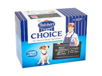 unopened/new Butchers Choice Festive Pouches (In gravy) dog food-from a smoke free house