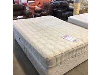 King size divan bed (mattress and base)