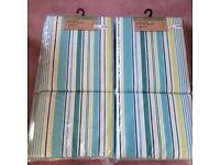 Homebase outdoor chair seat cushion BNWT stripe blue green