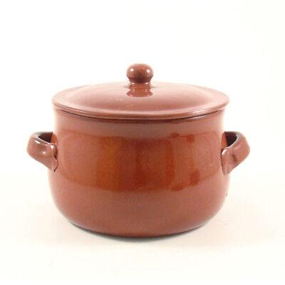 Pentola bombata in terracotta con coperchio ceramica barone made in italy
