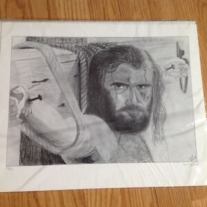 """""""Jesus on the Cross"""" Limited Edition Print by Derek Almond - $50 Strathcona County Edmonton Area image 1"""