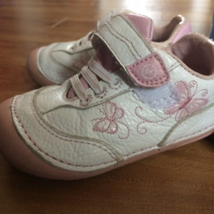 Stride Rite Toddler Sneakers - Pink and White Size 6