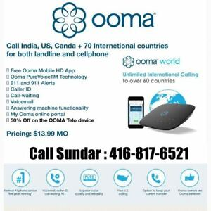 Ooma HOME PHONE , Call INDIA , US, Canada- $10 only 1 Month free