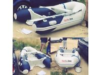 Honwave by HONDA 4 man rib/boat - with electric motor and leisure battery - only used twice!