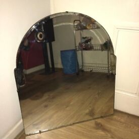 Lge Vintage Dressing Table Mirror - 1950s - Frameless