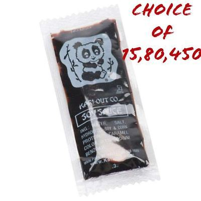 Kari-Out Chinese Soy Sauce, 8g Restaurant Portion Packets, Individually Packed ()