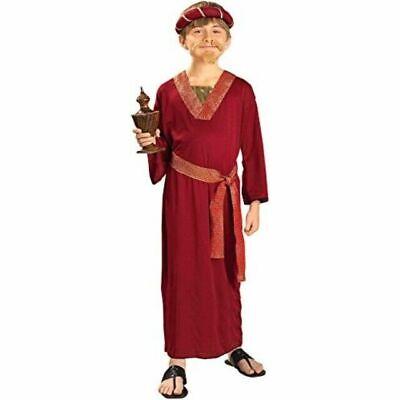 BRAND NEW Biblical Times Burgundy Wiseman Wise Man Child Costume, SZ M 8-10
