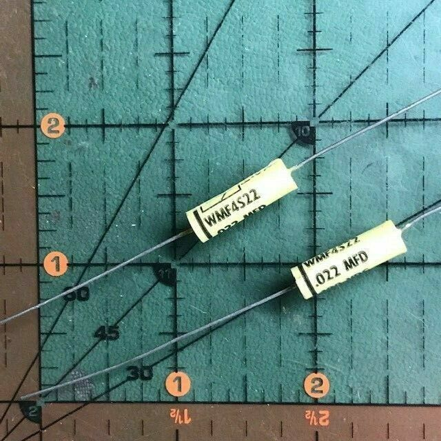 .022uF 400v Cornell Dubilier Film Axial Capacitor WMF4S22K 10% Audio Tube 10pc