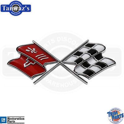 - 1969-1972 Corvette Cross X Flag Front Nose Emblem  - Trim Parts