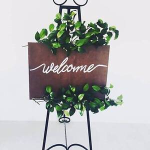 Welcome Sign Hire $30 with Easel and Greenery Dernancourt Tea Tree Gully Area Preview
