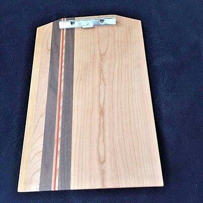 New Exotic Wood Clip Board Walnut Cherry Elm Padauk 107541-a Legal Size