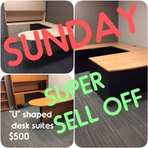 OFFICE SUITES, OFFICE FURNITURE, CHAIRS, FILES, USED