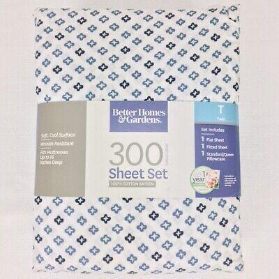 Better Homes & Gardens Twin Sheet Set 300 Count 100% Cotton